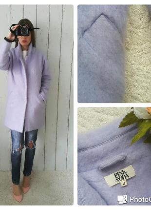 Пальто-бойфренд лавандового цвета