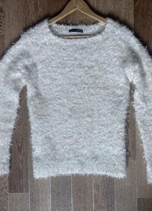 Молочная кофта свитер травка