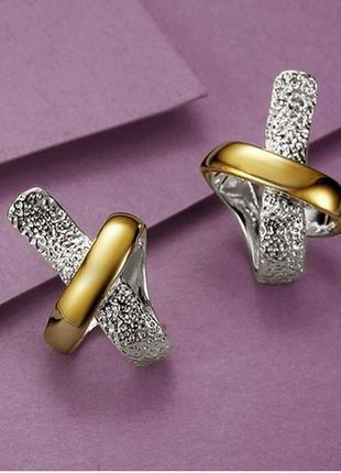 Сережки. симпатичные позолоченные серьги узелок