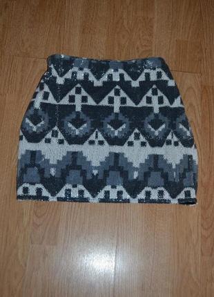 Короткая юбка в пайетках