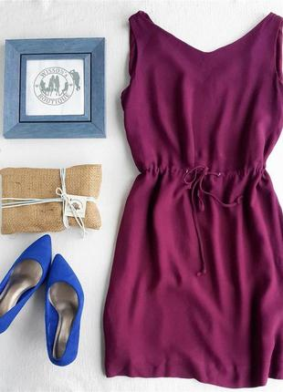 Ягодное платье massimo dutti
