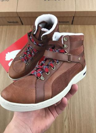 Оригинал puma the key alpine tortoise shell brown кроссовки