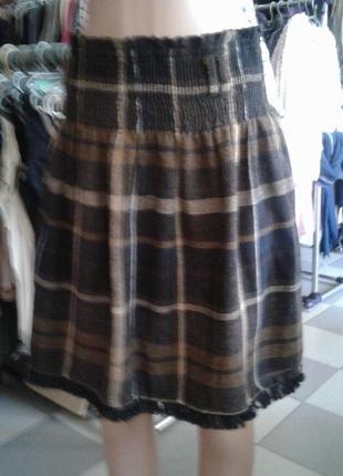 Модная клетчатая юбка от zara