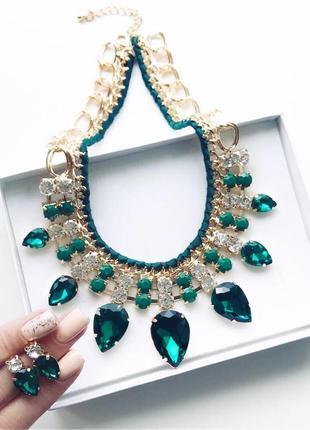 Зеленый набор украшений