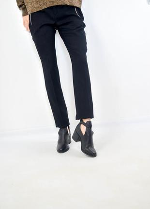Dune черные ботинки на каблуке с вырезами, полусапожки размер 36 ( 23 см)