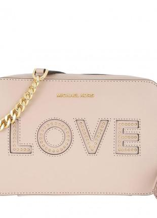 Сумка кроссбоди michael kors soft pink gold ginny. оригинал