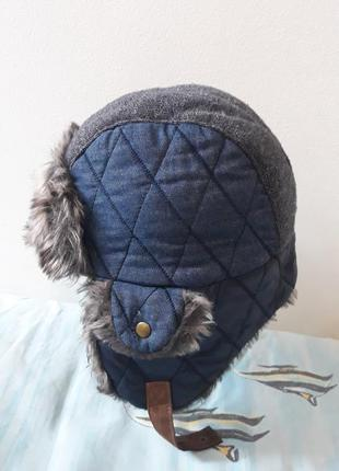 Next зимняя шапка ушанка 3-6 лет