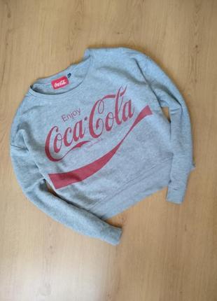 Укороченное худи с надписью coco'cola от new look