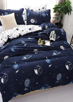 Комплект постельного белья космос луна сатурн
