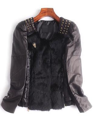 Куртка фирменная с натуральным мехом