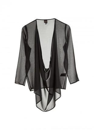 Туника блуза топ лонгслив накидка кимоно парео шифон прозрачный для пляжа monki asos