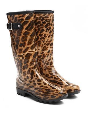 Леопардовые резиновые сапоги (78967)