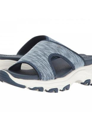 Шлепанцы skechers d'lites - cool footings blue