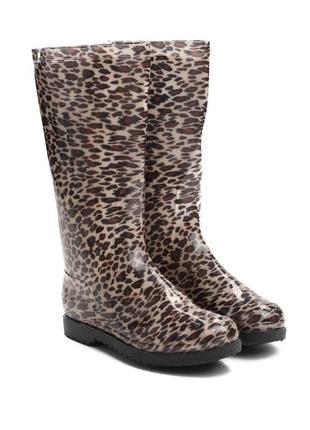 Леопардовые резиновые сапоги (78965)