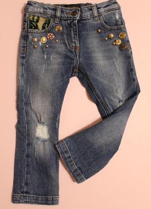 Оригинальные джинсы dolce&gabbana на 2-3 года / рост 89-95см (есть голограмма и бирки)