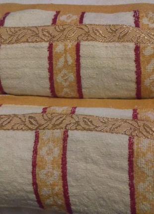Кухонные полотенца махра 25*50.