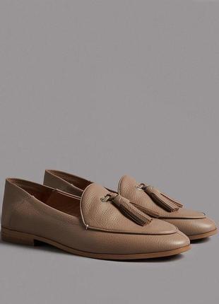 36р. кожаные туфли лоферы мюли autograph marks and spencer 101852