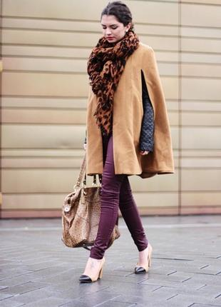 Пончо/кейп/пальто/накидка/куртка коричневый sodamix