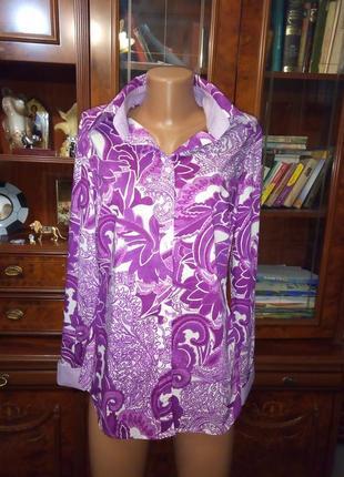 Стильная цветная рубашка с длинным рукавом, размер м