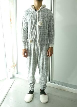 Теплое кигуруми комбинизон слип пижама №62