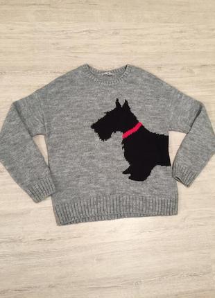 Свитер tu. тёплый свитер. серый свитер