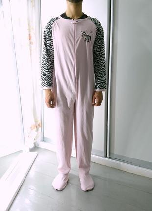 Теплое флисовое кигуруми комбинизон слип пижама №62