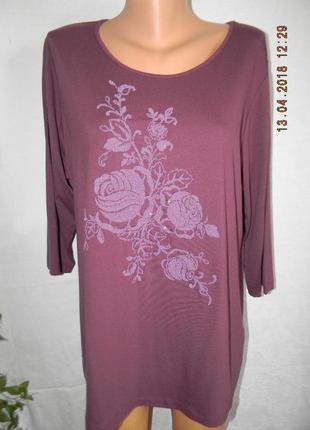 Красивая натуральная блуза большого размера