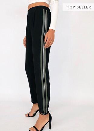 Dilvin модные брюки с лампасами высокая талия