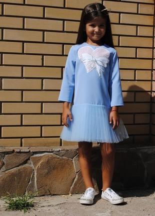 Платье с аппликацией из пайеток