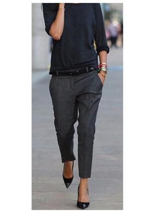 Классические укороченные брюки из шерсти calvin klein
