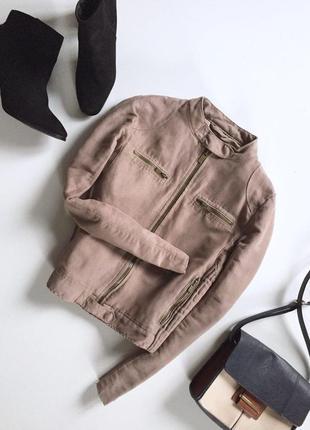 Стильная куртка на молнии от zara
