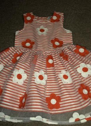 Обалденное платье с вышитыми цветами1