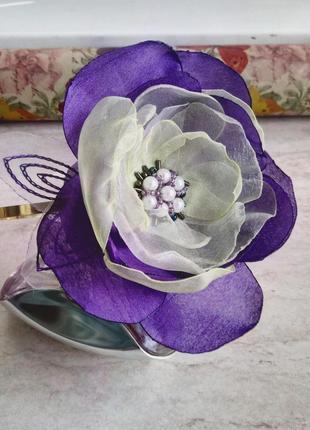 Обруч для волос с цветком, цветочный ободок, украшение на девичник, свадьбу