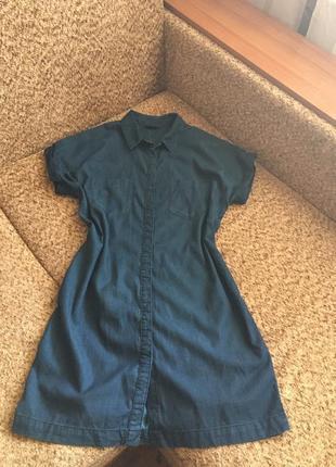 Джинсовое рубашка платье