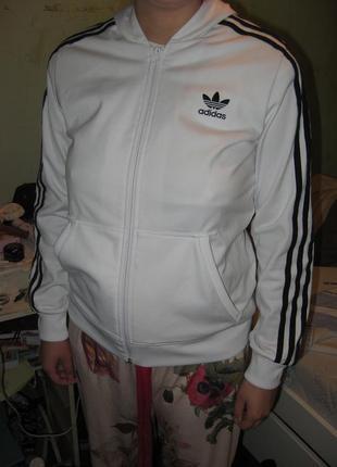 Олимпийка реглан кофта ветровка adidas оригинал новая размер м или 10
