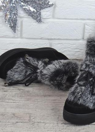 1159b85ff ... ✨ботинки замшевые натуральный мех на платформе женские зимние rosso  опушка кролик3 фото ...