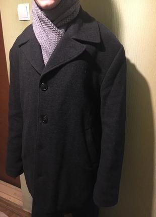 Зимнее классическое пальто h&m с утепленной подкладкой