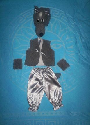Продажа, карнавальный костюм, волк, вовк, 2-5лет