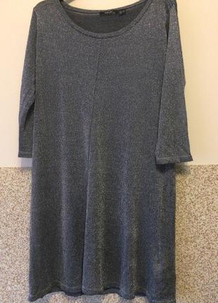 Серебряное платье р.м