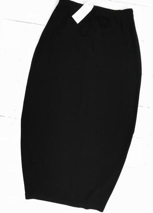 Крутая юбка/миди,чёрного цвета с етикеткой от next!