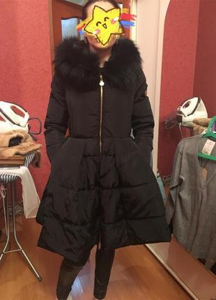 Продам пальто пуховик elisabetta franchi icy