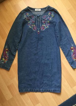 Вышытое платье asos