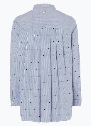 Натуральная рубашка в полоску рубашка вышивка рубашка lieblingsstuck