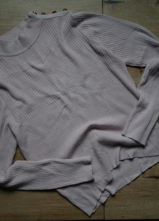 Стильный нюдовый свитер в рубчик,бежевый гольф в рубчик,базовый гольф с пуговками