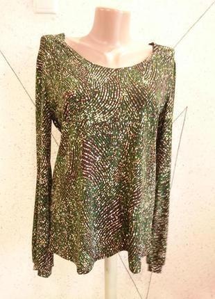 Кофточка блуза с блестками 10-14