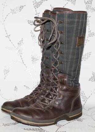 Комфортные кожаные сапоги tommy hilfiger 40 размер 26 см стелька