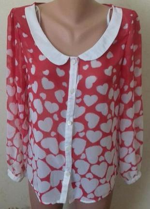 Шифоновая блуза с принтом atmosphere