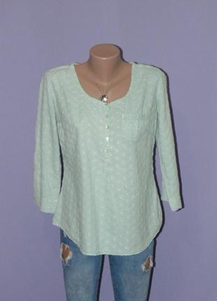 Нежно-зеленая блузочка с прошвой1
