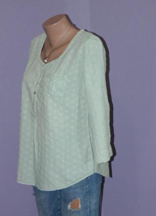 Нежно-зеленая блузочка с прошвой2