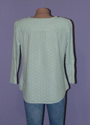 Нежно-зеленая блузочка с прошвой3